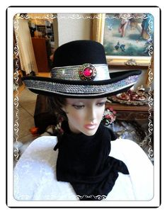 Bejeweled Hat by Sonni   Vintage Silver Sequin by bodaciousjewels