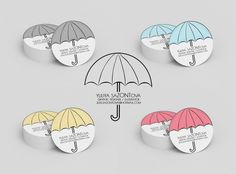 Business card #business card #umbrella #graphic design