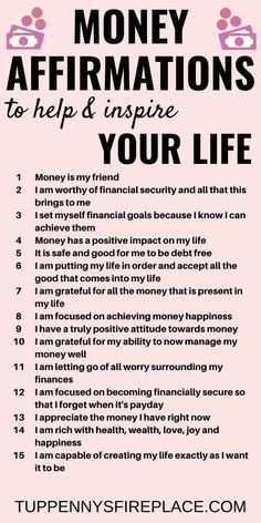 15 Money Affirmations That Will Inspire Your Life - Tuppennys Fireplace