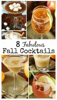 Check out these 8 Fabulous Fall Cocktails featuring fantastic Fall flavors like pumpkin, cranberry, and hot chocolate, to name a few.  They're sure to be great additions to your Fall {or anytime} sipping!  www.thekitchenismyplayground.com