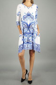 Lotus Flower Pocket Dress (2 Colors)