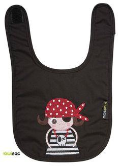 Babero Pirata Niña Negro #Babero #Bib #Piratas #Pirates #Niña #Girl