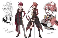 Female Character Concept, Character Model Sheet, Female Character Design, Character Design Inspiration, Character Art, Girls Characters, Female Characters, Elsword, Beautiful Anime Girl