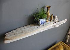 Gorgeous Large Sculptural Slab Driftwood Shelf