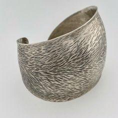 "handwrought, synclastic cuff bracelet, 2"" wide sterling silver Metal Working, Cuff Bracelets, Sterling Silver, Jewelry, Jewlery, Metalworking, Jewerly, Schmuck, Jewels"