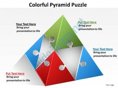Free D Pyramid Template For Powerpoint With Four Blocks And Five