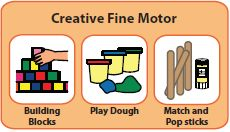 Creative Fine Motor--Terrific free downloads for building with Legos, play dough and posicle sticks!  Great for independent work systems and just structuring play activities.