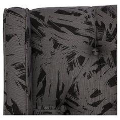 Archer Tufted Wingback Headboard - Shantung Black (California King) - Skyline Furniture