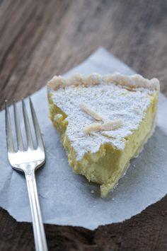 Lemon orange ricotta tart.
