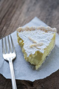 meyer lemon, bergamot orange, and fresh ricotta tart