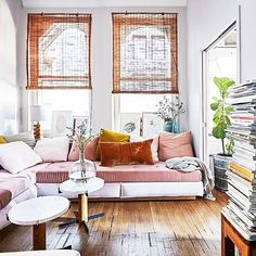 Blushing over these soft and feminine Brooklyn loft vibes