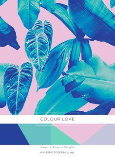 Colour Love Color Palette Purple Blue Turquoise Kaleidoscope Blog