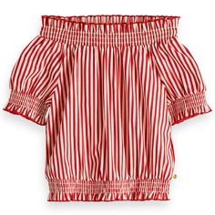 Discover the latest trends and fashion in girls' blouses, from the official Scotch & Soda online shop. Tween Fashion, Red Fashion, Boys Highlights, High Low Skirt, Girls Blouse, Our Girl, Shirts For Girls, Printed Shirts, Latest Trends