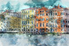 Beautiful canal scene in Venice, Italy by Brandon Bourdages