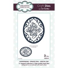 Creative Expressions Sue Wilson Expressions Ornate Oval Special Day Die Set
