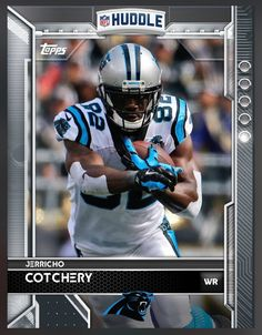 Jerricho Cotchery Carolina Panthers Base Card 2016 Topps HUDDLE