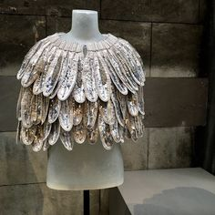 Burberry's Makers House: feather beaded cape by Christopher Bailey (Spring 2017)