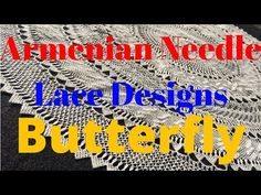 Needle Lace Design: Butterfly - YouTube