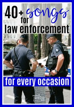 No matter the occasion, this HUGE list of songs are perfect for any law enforcement event or memory. Great for police academy graduations, police-themed parties, promotions or for police wives missing their officer! Law Enforcement Wife, Support Law Enforcement, Law Enforcement Quotes, Law Enforcement Training, Police Wife Life, Police Girlfriend, National Day Calendar, National Police, Song List