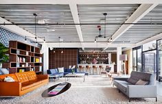 Graham Baba Architects and Brian Paquette Interiors have created a co-working space in Seattle called Cloud Room