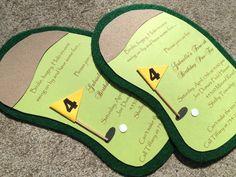 Golf Birthday Party Invitation, Golf Invitation or Scramble, Boy Baby Shower Invite, First Birthday Party via Etsy