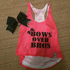 CHEER TANK AND BOW CHEER TANK SIZE SMALL AND CHEER BOW Tops Tank Tops