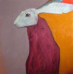 "Rebecca Hains ""Prairie Madonna""  oil on panel 24"" x 24"""
