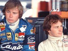 No longer friends. Didier Pironi and Gilles Villeneuve.