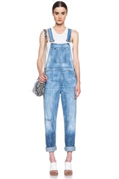 Citizens of Humanity Quincey Overalls in Sun Bleach | FWRD