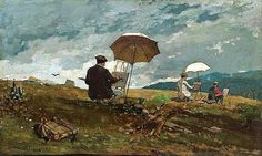 """Winslow Homer was an American landscape painter and considered one of the foremost painters in century America.a preeminent figure in American art. (Wikipedia) (""""Artists Sketching in the White Mountains"""" by Winslow Homer) Winslow Homer Paintings, Art Terms, Learn Art, Oil Painting Reproductions, Fine Art, American Artists, Painting Techniques, Painting Tips, Painting Art"""