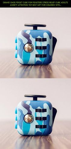 Grand Oasis Fidget Cube for Fidgeters Stress Relief Cube Adults Anxiety Attention Toy Best Gift for Children with Button Blue Camo #technology #shopping #blue #racing #gadgets #plans #fpv #tech #camera #camo #parts #kit #drone #cube #products #fidget
