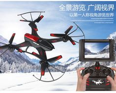 FPV RC Drone A12 2.0MP HD Camera HD aerial real-time transmission monitor RC UFO 2.4G 4CH 6 Axis 5.8G remote control Quadcopter