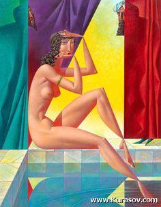 Susanna and Elders 2006 Georgy Kurasov Cubist Artists, Cubism Art, Modern Art, Contemporary Art, Figurative Kunst, Art Optical, Plastic Art, Art For Art Sake, Art Mural