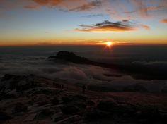Sunrise on Stella's Point, near the summit of Mount #Kilimanjaro, #Tanzania