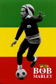 Bob playing futbol!