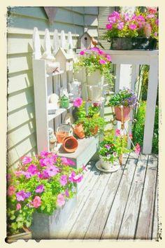 My cottage porch ~Photo by Julie  (cruzantiques)