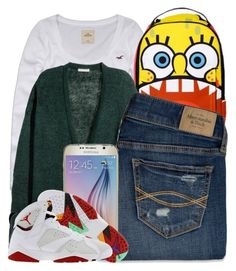 """""""9 27 15"""" by miizz-starburst ❤ liked on Polyvore featuring Hollister Co., H&M, Abercrombie & Fitch and Samsung"""