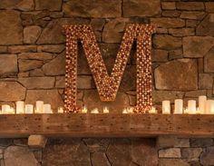 cork monogram - wine themed wedding ideas