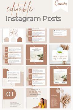 Instagram Feed Layout, Feeds Instagram, Instagram Post Template, Instagram Design, Instagram Posts, Social Media Branding, Social Media Design, Business Branding, Business Marketing