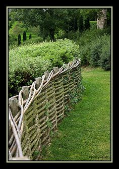 Wattle fence--charming