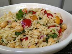 orzo pasta salad from Giada de Laurentiis- between @emilyhartter and myself we have probably made this...25 times??