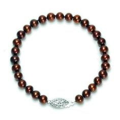 "Sterling Silver Dyed Chocolate Freshwater Cultured Pearl A Grade 5.5-6mm Bracelet, 7.25"" Amazon Curated Collection. $15.99. Made in China. Pearls may have been treated to improve their appearance or durability and may require special care."