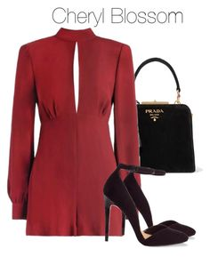 A fashion look from September 2017 featuring Zimmermann rompers, ASOS pumps and Prada tote bags. Browse and shop related looks. Fandom Outfits, Komplette Outfits, Dressy Outfits, Fashion Outfits, Womens Fashion, Gossip Girl Fashion, Look Fashion, Cheryl Blossom Riverdale, Riverdale Fashion