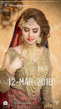 Get Easy & Beautiful Girls Hairstyle For Party 2018 With Images. It is challenge to reinventing new beautiful summer hairstyle. Pakistani Bridal Hairstyles, Pakistani Bridal Makeup, Bridal Mehndi Dresses, Pakistani Wedding Outfits, Bridal Outfits, Bride Hairstyles, Hairstyle Ideas, Bridal Lehenga, Pakistan Bride