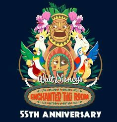 Happy 55th birthday to Disneyland's Tiki Room! 🐦📃🌺🎼 in the Tiki, Tiki, Tiki, Tiki, Tiki Room! • join Maude and Hermione on Pinterest and check-out our boards for more Disney fun! •