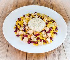 Salade Hawaienne au blanc de dinde et à l'ananas, 678KCal par portion, recette saine, recette sportive, bien être, forme et endurance, 3b nutrition sportive