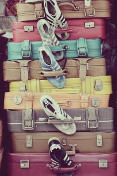 Vintage Luggage and Shoes