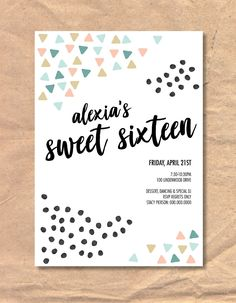 Excited to share the latest addition to my #etsy shop: Printable Modern Sweet Sixteen Birthday Invitation https://etsy.me/2G6vVsC #papergoods #birthday #printable #invitation #template #birthdayinvitation #girlbirthdayinvite #sweetsixteen #sweetsixteeninvite