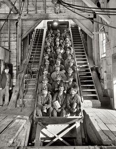 (c. 1905) Copper miners - Calumet, Michigan