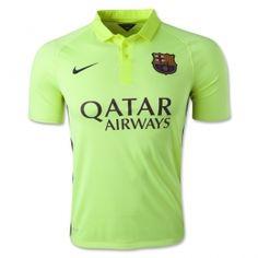 14-15 Barcelona Away Third Green Soccer Jersey Shirt